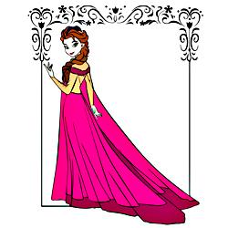 Раскраска Эльза из Эренделл