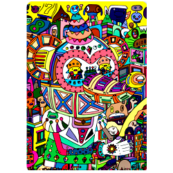 Раскраска Мышка робот