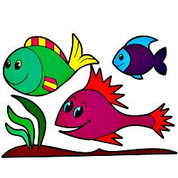 Раскраска Рыбки