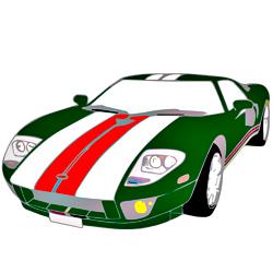 Раскраска Форд GT