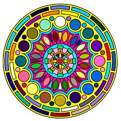 Раскраска Мандала-5