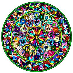 Раскраска Мандала-11