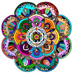 Раскраска Мандала-13