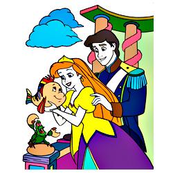 Раскраска Ариэль и принц Эрик