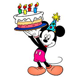 Раскраска День рождения Микки