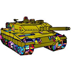 Раскраска Танк НАТО