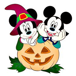 Минни и Микки на Хэллоуин