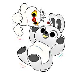 Раскраска Утка и кролик